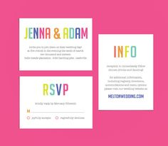 Large Bright Colorful Names Printable Wedding by TennesseeWeddings