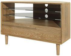 Homestyle GB Scandic Oak Corner TV Unit