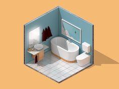 Mini Isometric Bathroom by Pinho co.