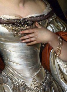 """Judith"" - Eglon van den Neer (Dutch, oil on {Baroque golden age art female torso painting detail Classical Art, Renaissance Art, Renaissance Dresses, Historical Costume, Art Plastique, Marie Antoinette, Fashion History, Art History, Art Inspo"
