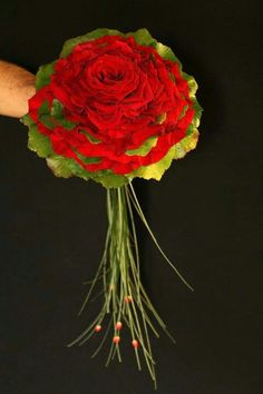 .Red and green glamelia  #glamelia #compositebouquet #weddings