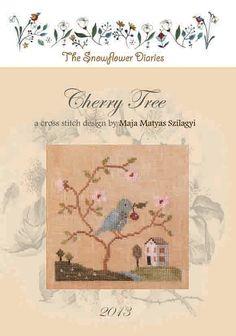IMPRIMÉ point de croix tableau  Cherry par TheSnowflowerDiaries, €8.00