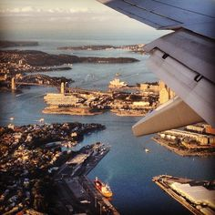 Incredible Sydney views from the plane.
