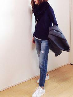 adidasのスニーカーを使ったmayumiさんのコーディネートです。│いつものー。