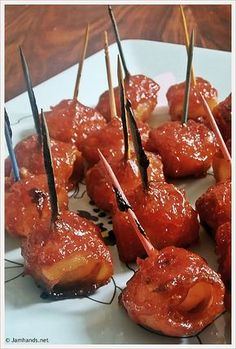 I make these every year. Holiday Appetizer – Bacon Wrapped Water Chestnuts