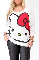 HELLO KITTY T-SHIRT :Women's Plus Size Clothing at Forever 21+ (I LOVE HELLO KITTY... so SO cute)