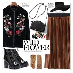 """""""Romwe"""" by oshint ❤ liked on Polyvore featuring San Diego Hat Co. and Burberry"""