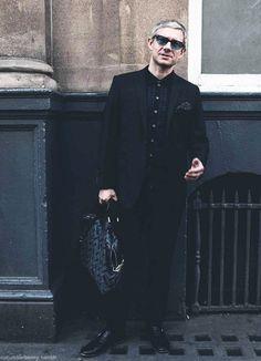 Holy shit. Martin Freeman. Fabulous fashion sense to match the level of cute overload at eleven.