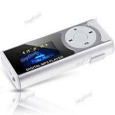Mini Digital MP3 Music Player with Blue LED Light + 4GB Micro SD TF Card KB-304947