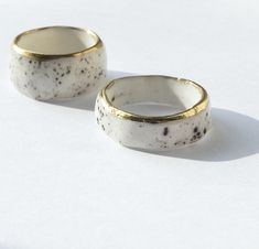 Thin Ceramic Handmade Ring - is elegant, minimalist porcelain ring. - transparent glazed - painted with gold lustre. You can find more porcelain rings here (they are fatter): Jewelry Party, Cute Jewelry, Charm Jewelry, Jewelry Shop, Handmade Jewelry, Porcelain Jewelry, Ceramic Jewelry, Porcelain Ceramics, Porcelain Doll