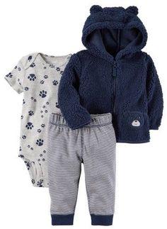 Carter's Baby Boys 3-pc. Bear Paw Jacket Layette Set