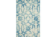 96X132 Rug-Tristen Ocean for Living Room. Blue will brighten room and be complementary to the orange accents