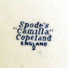 Vintage Spode Camilla blue & white china mark November 1939
