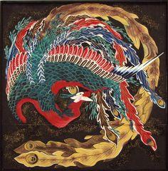 Phoenix - Katsushika Hokusai
