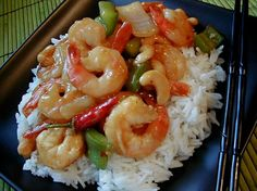 """Kung Pao Shrimp with Cashews: """"Excellent! We had this last night with steamed rice.Great flavors — love the ginger and the sesame oil gives it the extra YUM at the end."""" -Zobeed"""