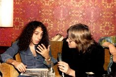 Doing a interview Ritchie Blackmore's Rainbow, James Dio, Heavy Metal, Interview, Rock, Dios, Bands, Heavy Metal Music, Skirt