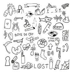 Cute Tiny Tattoos, Mini Tattoos, Body Art Tattoos, Small Tattoos, Retro Tattoos, Tattoo Flash Sheet, Tattoo Flash Art, Mini Drawings, Small Drawings