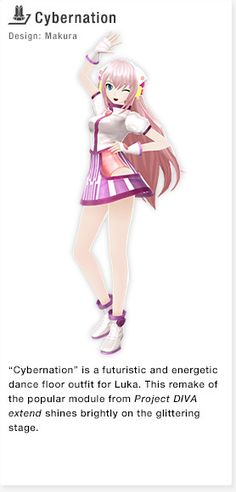 Cybernation Module for Luka Luka Night Fever Vocaloid, Hologram Projection, Mikuo, Diva Design, Night Fever, Anime Style, Singer, Video Games, Vestidos