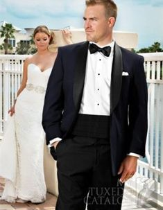 High Quality One Button Navy Blue Groom Tuxedos Groomsmen Men's Wedding Prom Suits Custom Made (Jacket+Pants+Girdle+Tie) K:96
