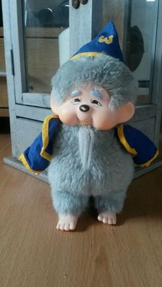 ***Wizzard/Merlin/Zauberer  Monchhichi Monchichi Sekiguchi Rarität***