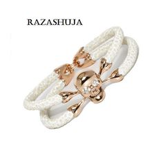 Stingray bracelet with skull by RazaShuja on Etsy