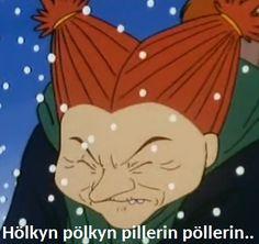 "mrhemuli: "" Noita taistelee talvea vastaan joka päivä. "" Ok Boomer, Tove Jansson, Moomin, Sarcastic Humor, Denial, I Laughed, Disney Characters, Fictional Characters, Nostalgia"