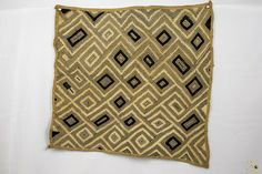Kuba Cloth ( Shoowa ) Raffia Textile - Congo DRC Congo, Embroidery Thread, Weaving, Textiles, Throw Pillows, Stitch, Ebay, Clothes, Outfits