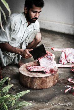 The Butcher.  Karachi //  Pakistanmustafahussainphotography
