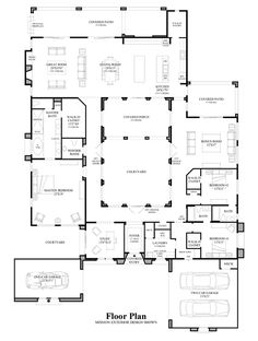 courtyard home plan when we build in mexico this is what i kinda want want a courtyard in the middle of our home for the home pinterest - Great Home Designs