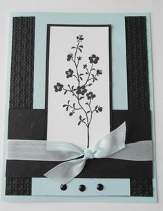Morning Meadow Black/Soft Sky by gails - Cards and Paper Crafts at Splitcoaststampers