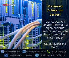 Micronova offers best in class server colocation solutions that is backed by an ultra-fast network. Co-locate your servers and other critical equipment in a safe and secure environment that has guaranteed uptime of up to 99.75%. For enquires, reach us at salesblr@micronova.com or you can also contact us on +91- 8147090194 To know more about our Colocation Server services visit our website www.micronova.in #colocationservices #colocationdatacenter #datacenter #colocationIndia #micronova Data Center Infrastructure, Data Center Design, Rack Solutions, Class Tools, Fire Suppression System, Power Backup, Cloud Data, Server Room, Network Solutions