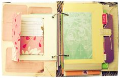 """""""Brights"""" Junk/Smash Journal by LoveAlwaysSummer. This would be a good inexpensive option for the younger Scrapbook Cover, Scrapbook Cards, Scrapbooking, Scrapbook Layouts, Journal Inspiration, Journal Ideas, Bullet Journal Printables, Book Journal, Art Journals"""