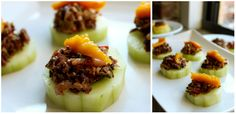 Roasted Fennel Tapenade and Polenta Cucumber Bites,. (I'd use zucchini.)