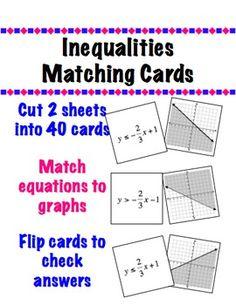 45 Linear Inequalities Ideas Linear Inequalities Teaching Algebra High School Math
