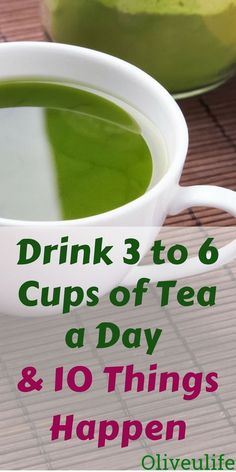 Drink 3 to 6 cups of tea a day and 10 things happen. Tea Benefits | Healthy Living | Weight Loss | Healthy Snacks