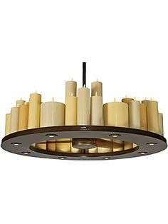 Candelier 48 Light With 30 Three Blade Ceiling Fan In Oil Rubbed Bronze Living Room