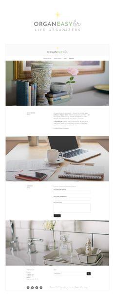 Projeto de identidade visual com logotipo e criação de website para o escritório de organização pessoal OrganeasyBR - Life Organizers por Pashion Studio