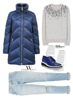 """""""Untitled #1080"""" by pamela-802 ❤ liked on Polyvore featuring Burberry, Current/Elliott, Michael Kors, Prada and puffer"""