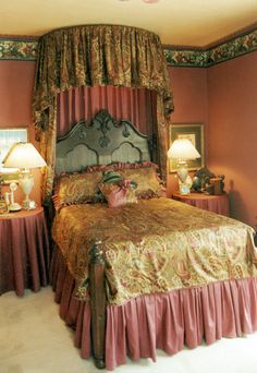 lydias room 1994 carlisle decorator shop house antique victorian bed features half tester. Interior Design Ideas. Home Design Ideas