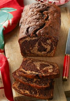 Chocolate-Marbled Banana Bread — Here's the kind of banana bread chocolate fans can appreciate together—both flavors are marbled together in one luscious loaf.
