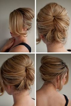 We love this classic updo for a formal holiday party!