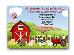 farm party invitation