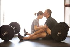CrossFit engagement shoot by Ava Moore photography.