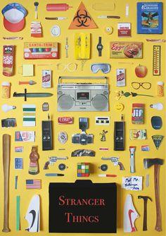 Objetos icônicos de séries e filmes reunidos em cartazes - O Verso do Inverso
