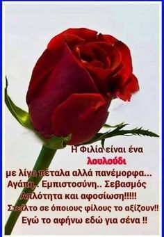 Greek Quotes, Love Words, Quotations, Friendship, Letters, Greek Language, Words Of Love, Qoutes, Quotes