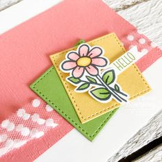 Make this easy floral card with just a few supplies and a handful of minutes. It so much fun to pop joy into someone's physical mailbox with a handmade card. Floral Card, Alcohol Markers, Glitter Cards, Animal Cards, Card Sketches, Free Paper, Handmade Flowers, Greeting Cards Handmade, Stampin Up