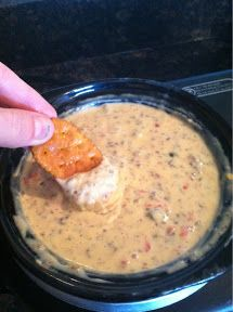 Creamy Sausage Cheese Dip- delicious easy dip! You will have to fight people away from the dip bowl! SOOOO good.