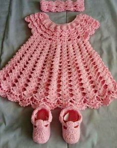 Crochet Baby Dress Pattern, First Outfit Easter Baby Shower Gift, Welcome Baby Girl, Chevron Infant Crochet Dress Pattern Months Infant Crochet Baby Dress Pattern, Baby Dress Patterns, Crochet Fabric, Baby Girl Crochet, Crochet Baby Clothes, Knit Crochet, Hand Crochet, Baby Dress Tutorials, Crochet Summer