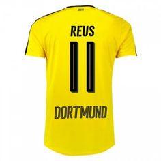 BVB Borussia Dortmund 16-17 Marco #Reus 11 Hjemmebanesæt Kort ærmer,208,58KR,shirtshopservice@gmail.com