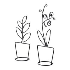 LIKNANDE Adorno, juego de 2 IKEA Una decoración estilizada que da vida a una estantería o ventana.